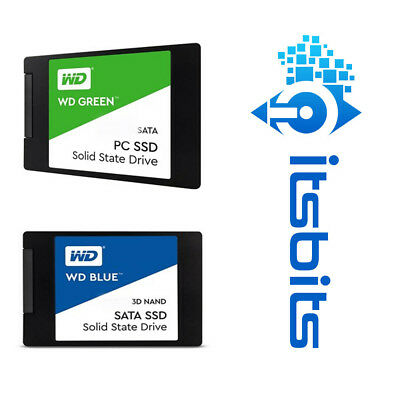 Western Digital Ssd Blue Green 120Gb 240Gb 250Gb 480Gb 500Gb 1Tb Internal 2.5""
