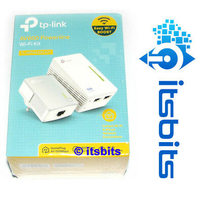 TP-LINK TL-WPA4220KIT 300Mbps AV600 WiFi POWERLINE RANGE EXTENDER STARTER KIT