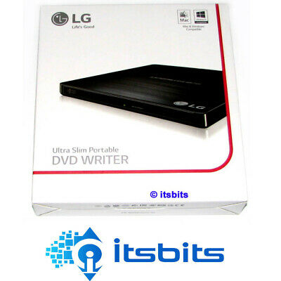 Lg Gp60Nb50 Black 8X Usb External Dvd Burner Suit Windows 7 8 10 & Mac + Burn Sw