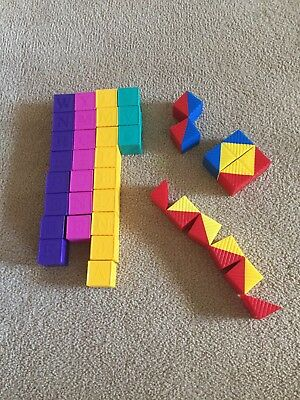 Vintage Tupperware Toys Blocks X 38