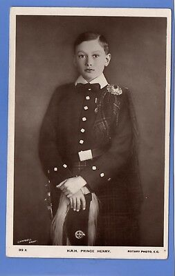 Old Vintage Rp Postcard Prince Henry As A Young Boy In Kilt Royalty