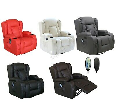 WestWood Leather Massage Cinema Recliner Chair Sofa Swivel Rocking MLS-02 New
