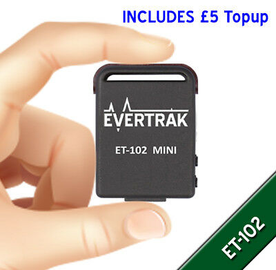 Mini ET102 Magnetic GPS Tracker Package - £5 Topup Included - TK102