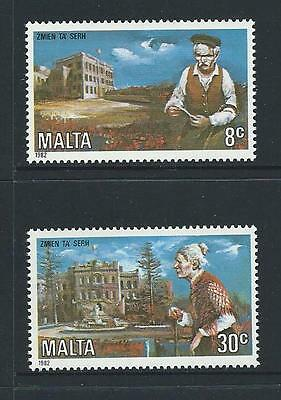 1982 MALTA Care for the Elderly Set MNH (Scott 612-613)