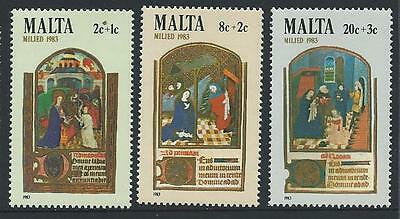 1983 MALTA Semi Postals - Christmas Set MNH (Scott B48-B50)