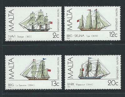 1983 MALTA Ships Set MNH (Scott 637-640)