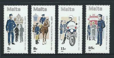 1984 MALTA 170th Anniversary Police Force Set MNH (Scott 643-646)