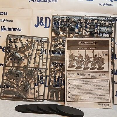 Games workshop Warhammer Fantasy Battle Age of Sigmar Chaos Knights x5 on sprue