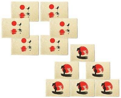 Peaceful Japan Printed Canvas Placemats 13x19 Inch Set of 6