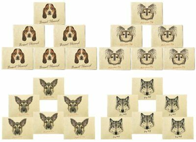 Portraits Of Dog Printed Canvas Placemats 13x19 Inch Set of 6