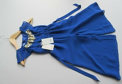 Exquisite Monsoon girls blue gold sequined playsuit age 4 years original tags