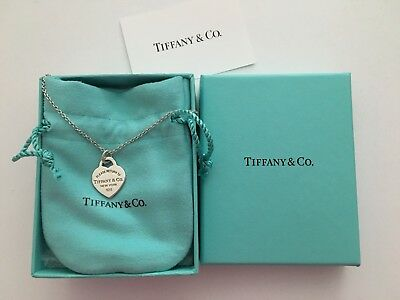 Tiffany and Co Heart Necklace Authentic Classic Style Silver
