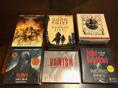 Lot of 6 Books on CD: Wicked Prey, The Good Thief, Vanish, Red Pyramid, Ruins +
