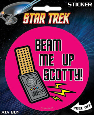 Star Trek Beam Me Up! Scotty 4-inch Adesivo