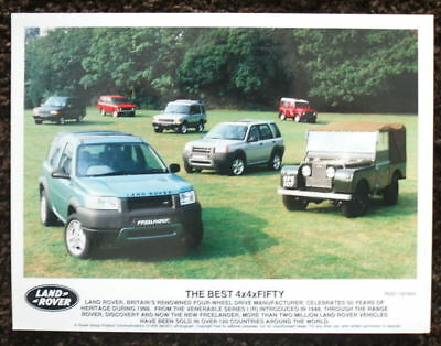Land Rover The Best 4X4 Fifty Press Photograph Black & White 1998