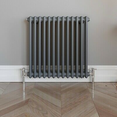Traditional Colosseum Horizontal Double Bar Radiator 600 x 600mm Anthracite