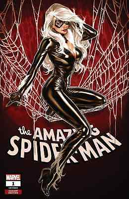 AMAZING SPIDERMAN 1 vol 5 2018 MARK BROOKS BLACK CAT A VARIANT NM