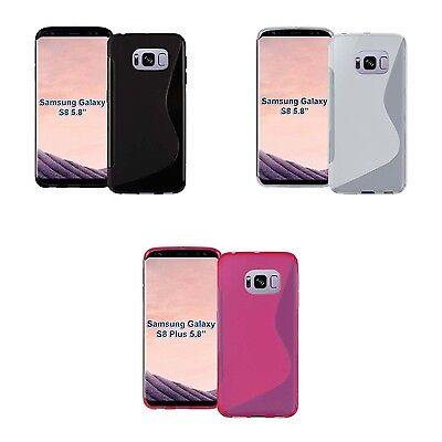 Case For Samsung Galaxy S8 S-Line Silicone Gel Skin Tough Shockproof Phone Cover