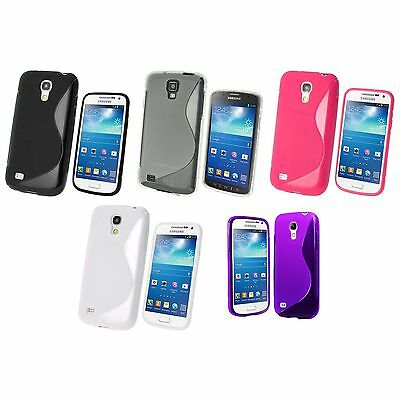 Case For Samsung Galaxy S4 Mini S-Line Silicone Gel Skin Shockproof Phone Cover