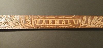 "Men's NWOT 44"" Farmall  Genuine Leather IH International Harvester Belt-44"""