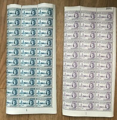 St Lucia. 1946 Victory. Set x half sheets. 2 blocks x 30 values. Fine and fresh!