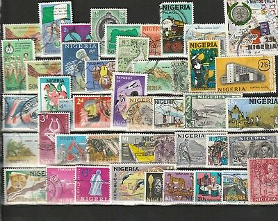 Stamps of Nigeria - 45 Different Used.