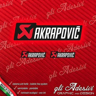 1 AKRAPOVIC White Sticker resistant heat + 2 small