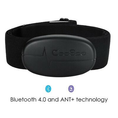 Smart Cardio Bluetooth 4.0 and ANT+ Wireless Heart Rate Monitor with Soft Chest