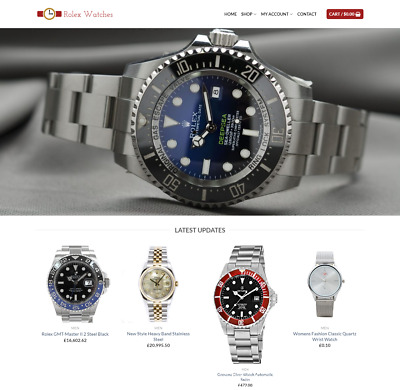 Rolex Watches Website For Sale - Earn £1200.00 A SALE. Free Domain| Web Hosting