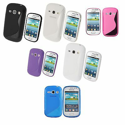 Case For Samsung Galaxy Fame S-Line Silicone Gel Skin Shockproof Phone Cover