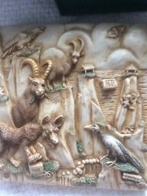 Cliff Hangers Coyote Harmony Kingdom Noahs Park Picturesque Tile Magnet
