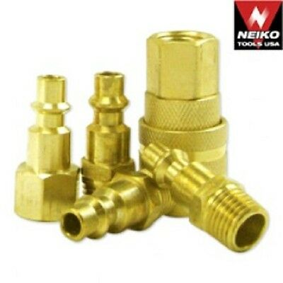 5 Piece Industrial Type Brass Air Quick Coupler Set  $6.50  Free Shipping