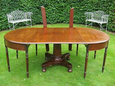 LARGE 19th CENTURY WILLIAM IV MAHOGANY  DINING TABLE TO SEAT 10