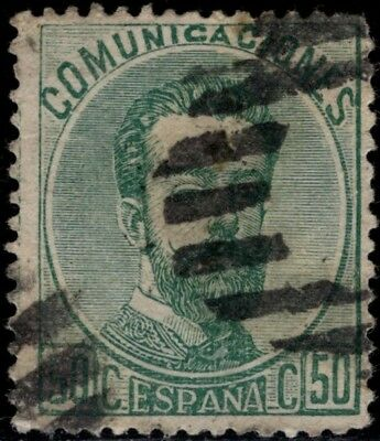 1872.Amadeo I.50 cts verde.Pto aguja. Ed:º119.P.Cat:14.50€