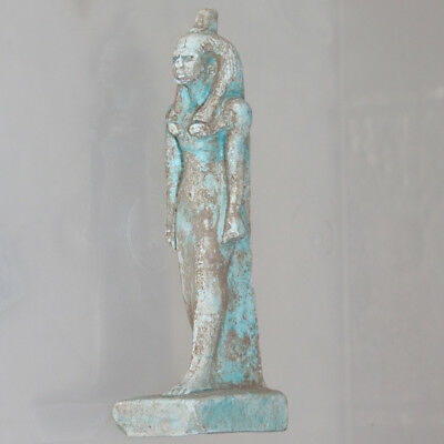 Circa 1000-500 Bc Egyptian Faience Blue Statue Of Cleopatra