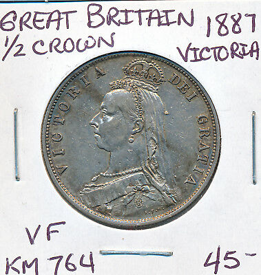 Great Britain Half Crown Victoria 1887 Km764 - F