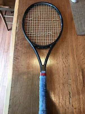 Pro Stock Tennis Racquet- Blacked out Wilson Racket used/tested by Brian Baker