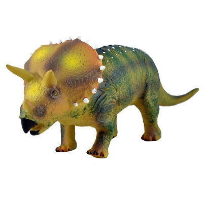 """Large 20"""" (52cm) Soft Stuffed Rubber Dinosaur Triceratops Play Toy Action Figure"""
