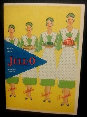 Jell-O Quick Easy Wonder Dishes 1930 Recipe Booklet Original General Foods