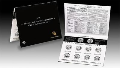 2011 US Mint America The Beautiful Quarters Uncirculated 10 Coin Set