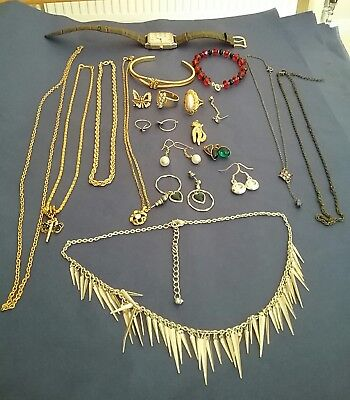 Job Lot Of Vintage And Modern Costume Jewellery