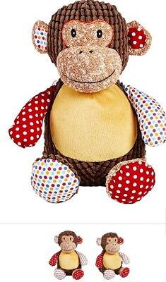 Personalised embroidered teddy monkey