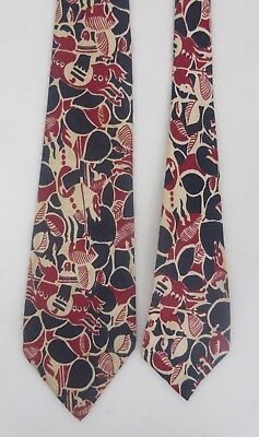 Exciting VINTAGE rockabilly '40s/'50s GALLOPING LANCERS red/white/navy blue tie!