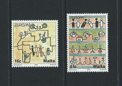 2006 MALTA Europa Set MNH (Scott 1244-1245)