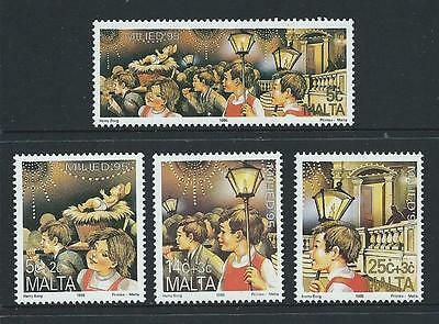 1995 MALTA Christmas Set MNH (Scott 874-877)