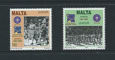 2007 MALTA Europa - Boy Scouts Set MNH (Scott 1286-1287)