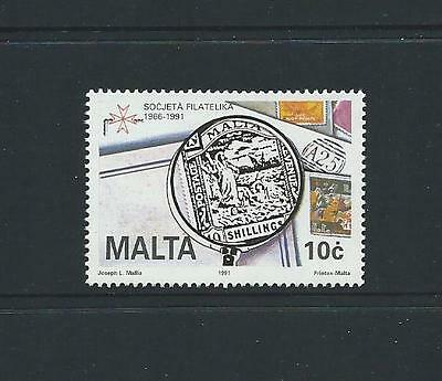 1991 MALTA 25th Anniversary Maltese Philatelic Society MNH (Scott 768)