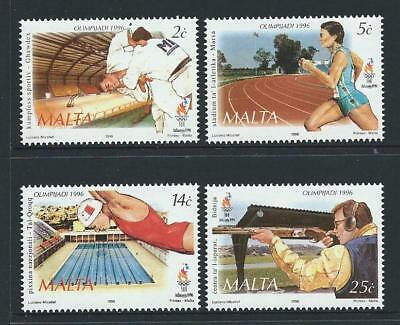 1996 MALTA Atlanta Olympics Set MNH (Scott 892-895)