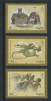 1995 MALTA European Nature Conservation Set MNH (Scott 867-869)