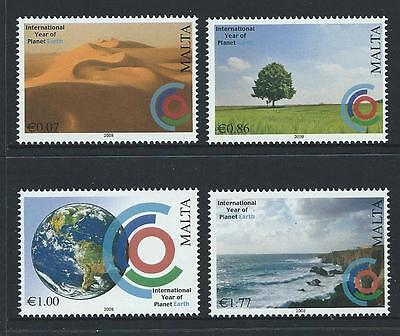 2008 MALTA International Year of Planet Earth Set MNH (Scott 1344-1347)